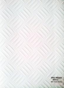PVC Médio Relevo Folha Branco