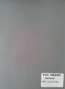 PVC Médio Relevo - Liso Cinza