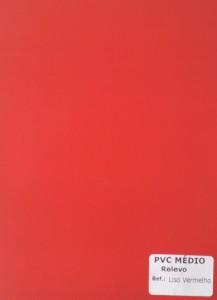 PVC Médio Relevo - Liso Vermelho